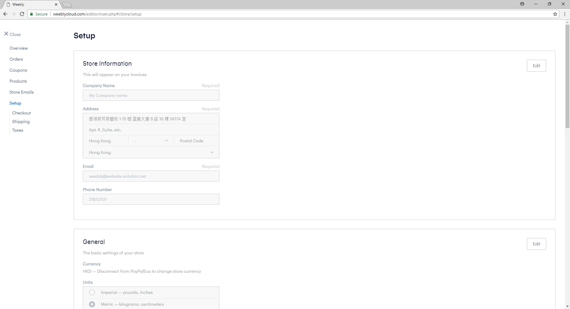 eShop Basic Setup